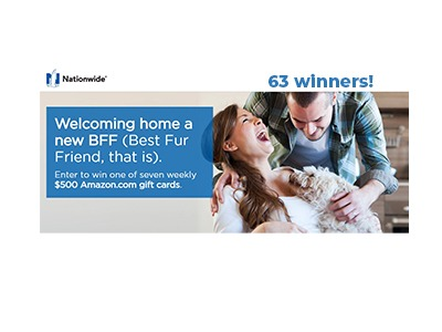 Nationwide Best Fur Friend Sweepstakes
