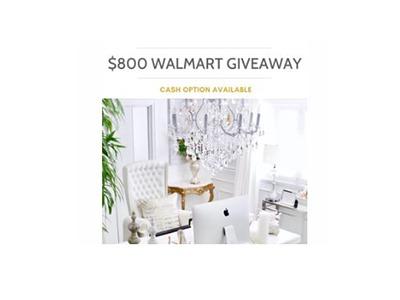 Win a $800 Walmart Gift Card