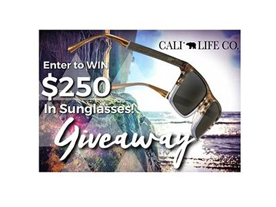 Win $250 in Cali Life Co Sunglasses