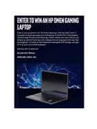 HP Omen Gaming Laptop Sweepstakes
