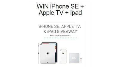 Win an iPhone SE + Apple TV + iPad