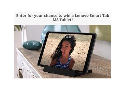 Win a Lenovo Smart Tab M8 Tablet