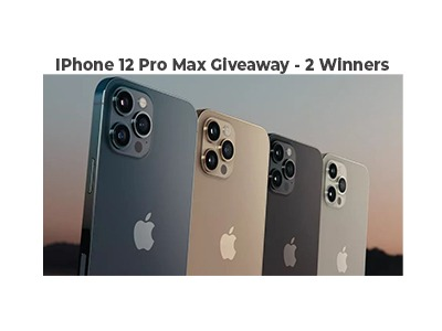 iPhone 12 Pro Max Giveaway