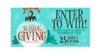 John Soules Foods 25 days of Giving Sweepstakes