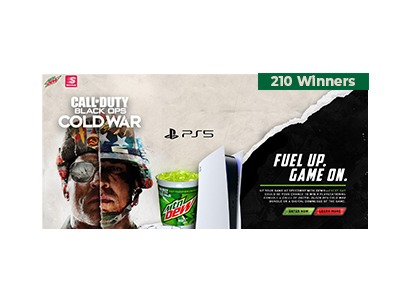 Mtn. Dew Fuel Up Game On Sweepstakes
