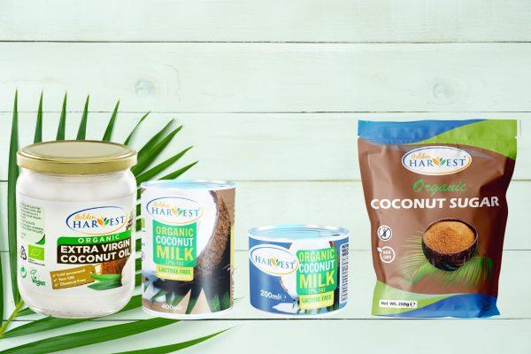 Golden Harvest Coconut Bundle : Coconut Oil-500ml|Coconut Milk-400ml&200ml|CoconutSugar-250g