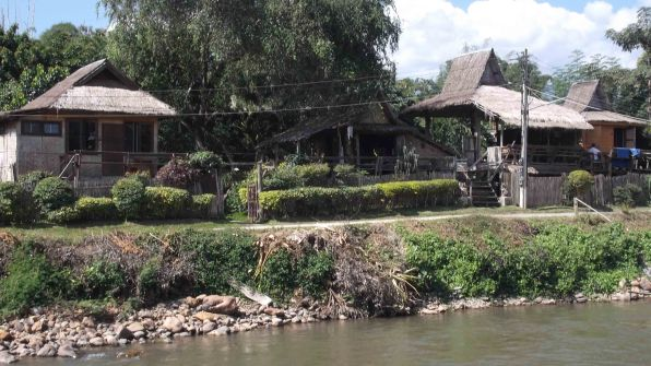 View of the guest house from the other side of the river