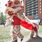 jing wo lion dance calgary 2016 wing kei walkathon walk-a-thon eau clair riverwalk bow river chinatown