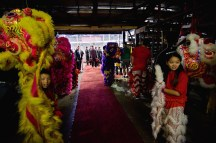 jing wo lion dance calgary 2017 chinese new year saddledome hitmen hockey