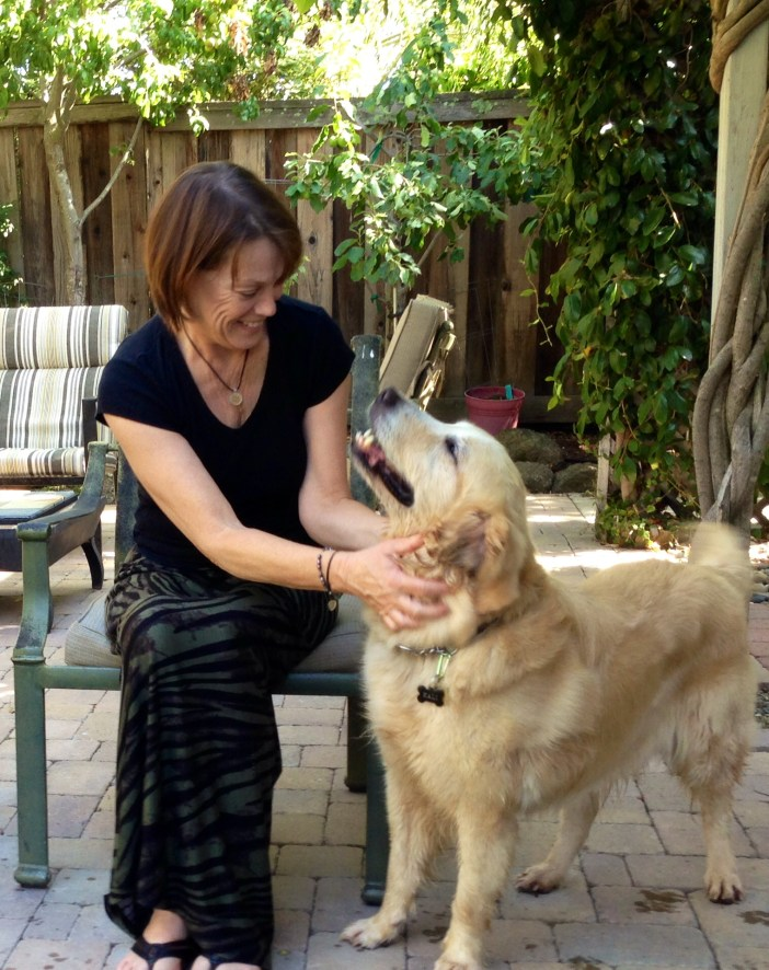 My beautiful wife Holly with our Golden Kali