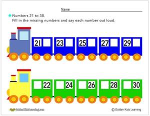 Number Trains 21-30