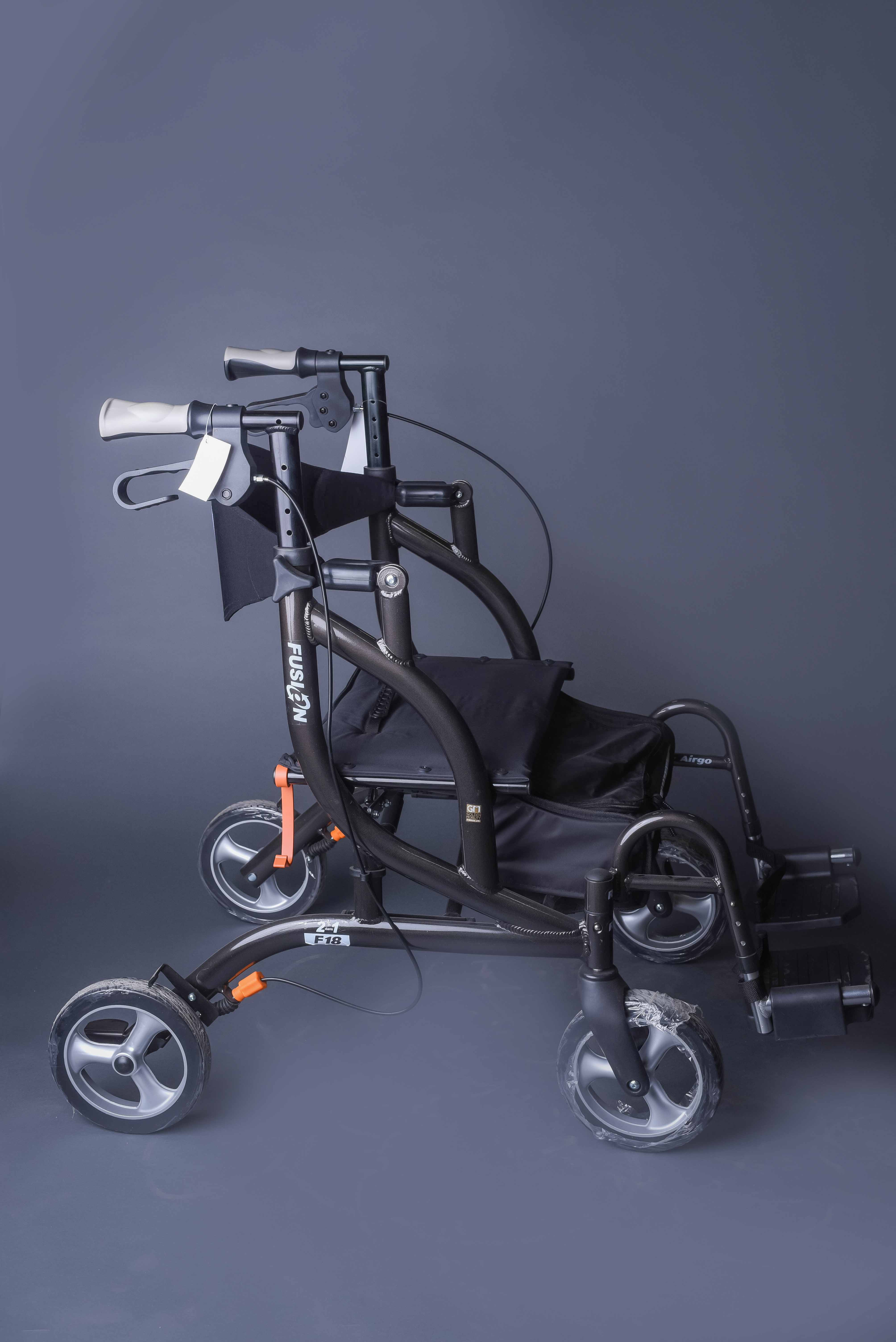 Airgo Fusion WalkerTransport Chair by Drive Medical