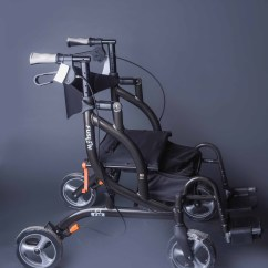 Transport Walker Chair Easy Chairs With Integral Footrest Airgo Fusion By Drive Medical