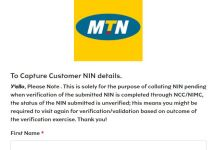 MTN Opens Portal For NIN Linkage With Sim Card