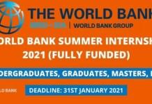 World Bank 2021 Summer Internship Program