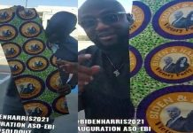 VIDEO: Nigerians in US pick 'Aso Ebi' for Biden/Harris inauguration