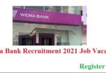 Apply for Wema Bank Plc Job Recruitment