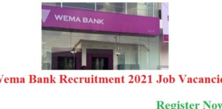 Employment Opportunities at Wema Bank Plc