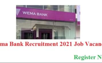 Apply for Wema Bank Plc Job Recruitment