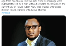 The Details OfHow FCMB MD Adam Nuru Allegedly Killed Staff Husband Over Illicit S3x With His WifeHave Emerged.