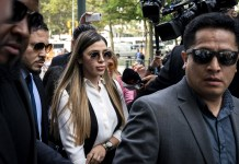 """The wife of notorious Mexican drug trafficker Joaquin """"El Chapo"""" Guzman Loera has been on drug trafficking charges."""