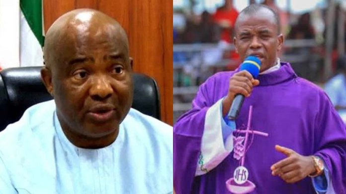 'Gov Hope Uzodinma is dead, God bless Nnamdi Kanu' – Fr Mbaka