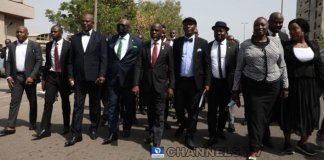 JUST IN : Lawyers March To National Assembly As JUSUN Begin Nationwide Protest