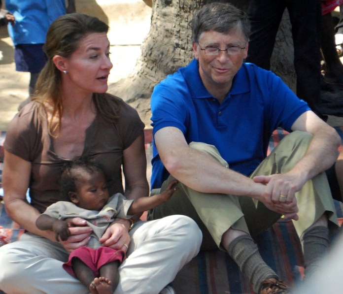 Melinda and Bill Gates on a visit to India's Bihar state in 2011.