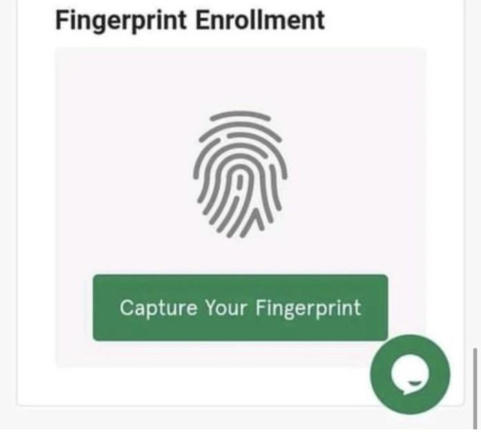 fingerprint enrollment