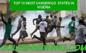 Most Dangerous States in Nigeria 2021