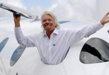 Richard Branson Takes Off For Space