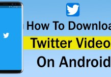 How to Save twitter videos and images to Your Phones