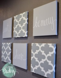 Light Gray Moroccan 6 Piece Wall Art Eat Drink Be Merry