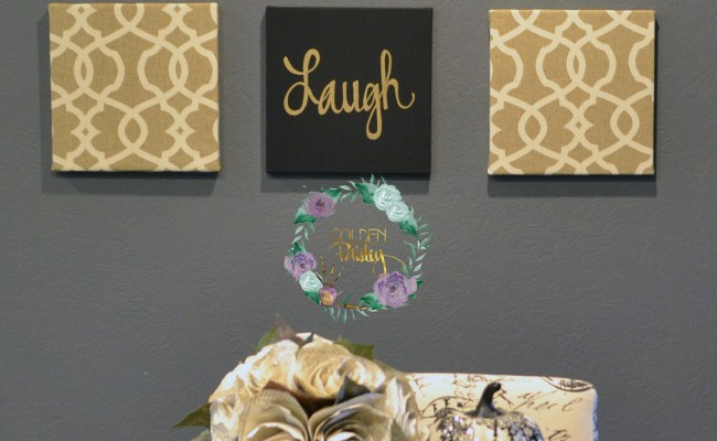 Black And Gold Eat Drink Be Merry Chic Wall Art Set