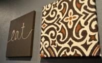 Dark Brown Designer Damask Wall Art Set