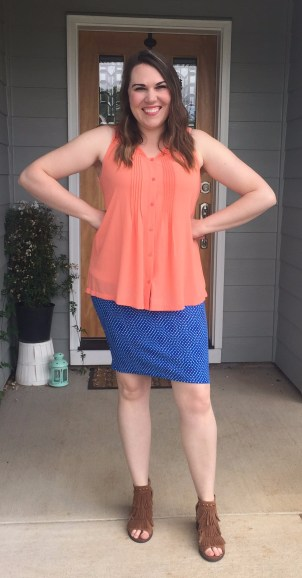 Styled with a Lularoe Cassie Pencil Skirt