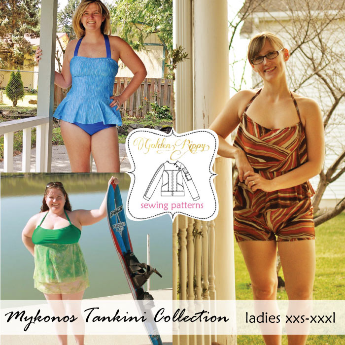 womens tankinis swimsuit pattern to sew