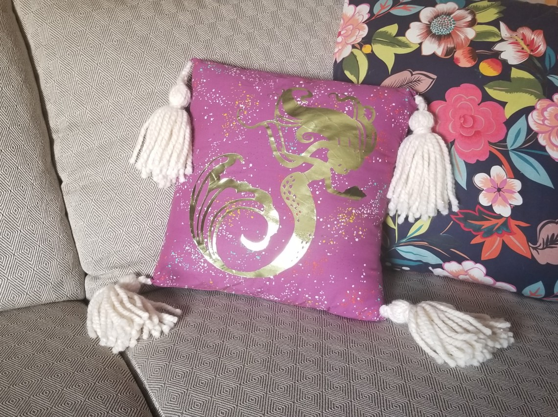 mermaid envelope pillow