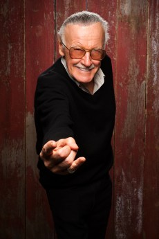 """Stan Lee promoting """"With Great Power: The Stan Lee Story"""" at the Celebs.com Studio at Sundance 2012. Make-up by MAC Cosmetics."""