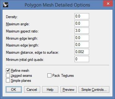 Rhino mesh settings