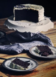 chocolate cake, beets, baking, dessert, desserts, cake, lavender, buttercream frosting, icing, essential oils,