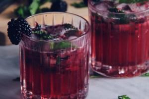 gin, blackberry, gimlet, cocktail, mixology, fresh fruit cocktail, mint, mixed drink
