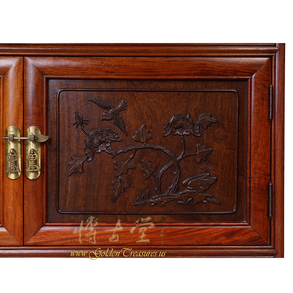 Chinese Antique Rosewood DisplayCurio Cabinet 17LP03