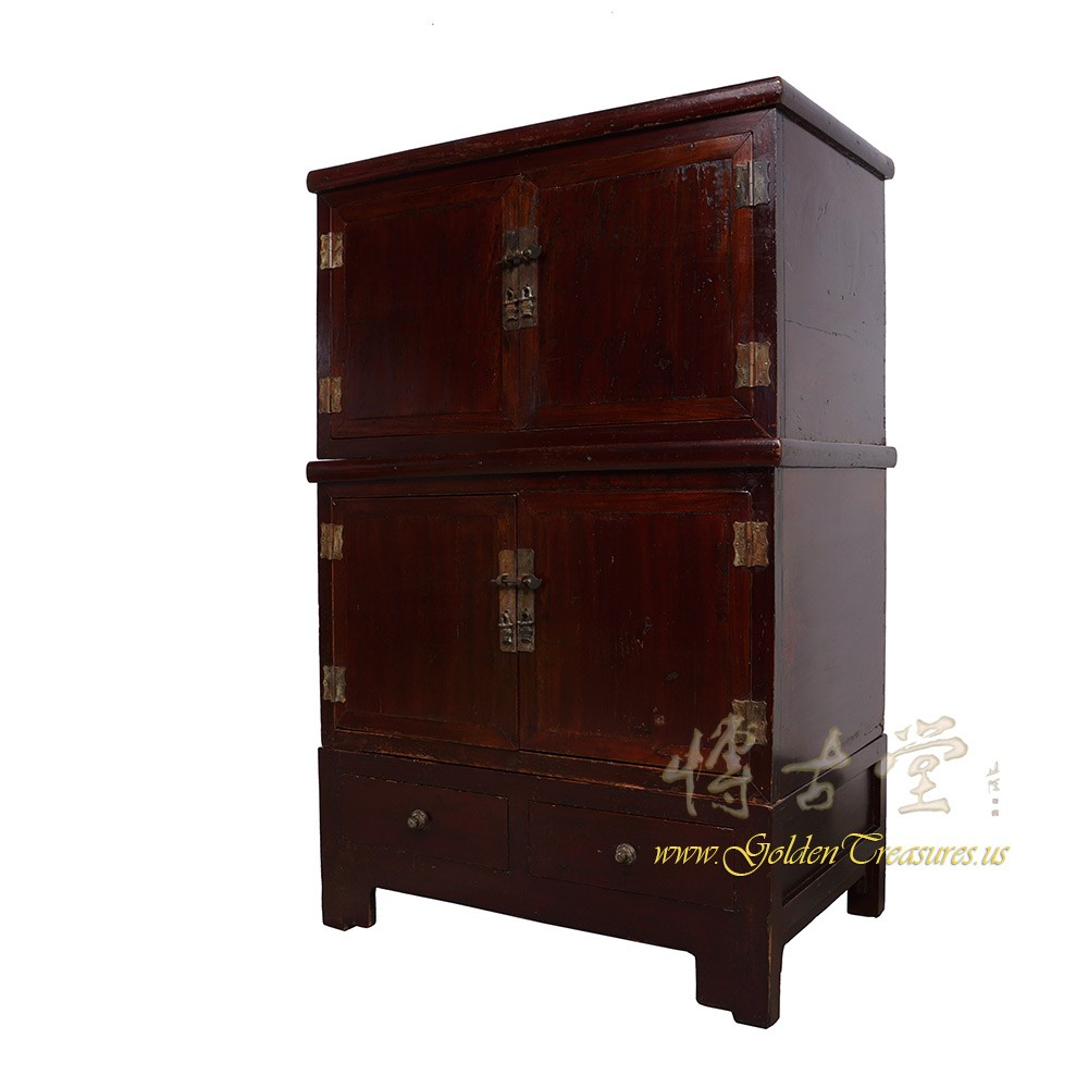 Chinese Antique Stackable CabinetChest 18H16 Chinese Antiques