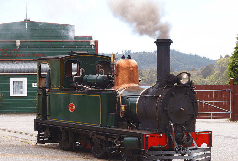 steam engine, shantytown