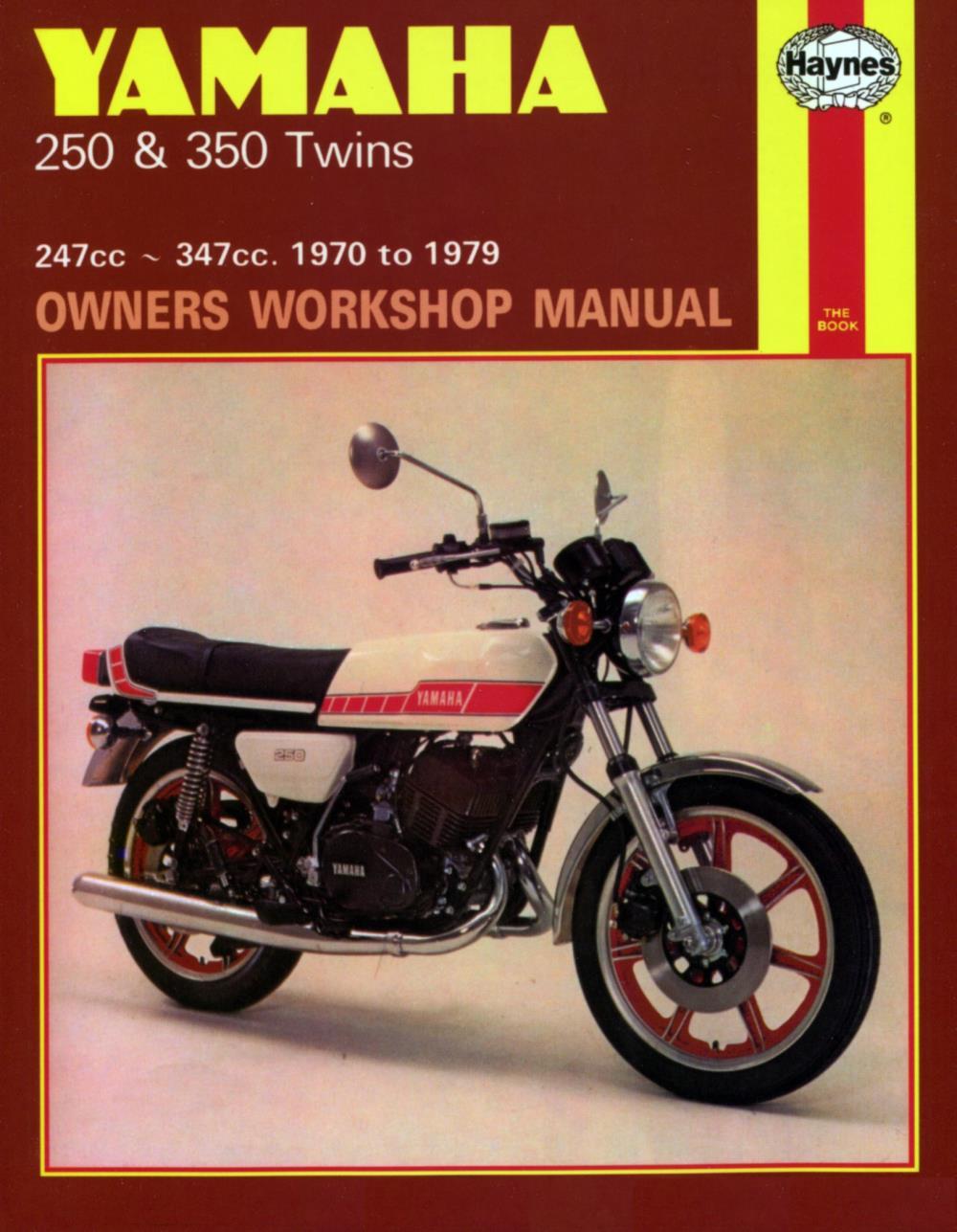 medium resolution of image is loading manual haynes for 1975 yamaha rd 350 b