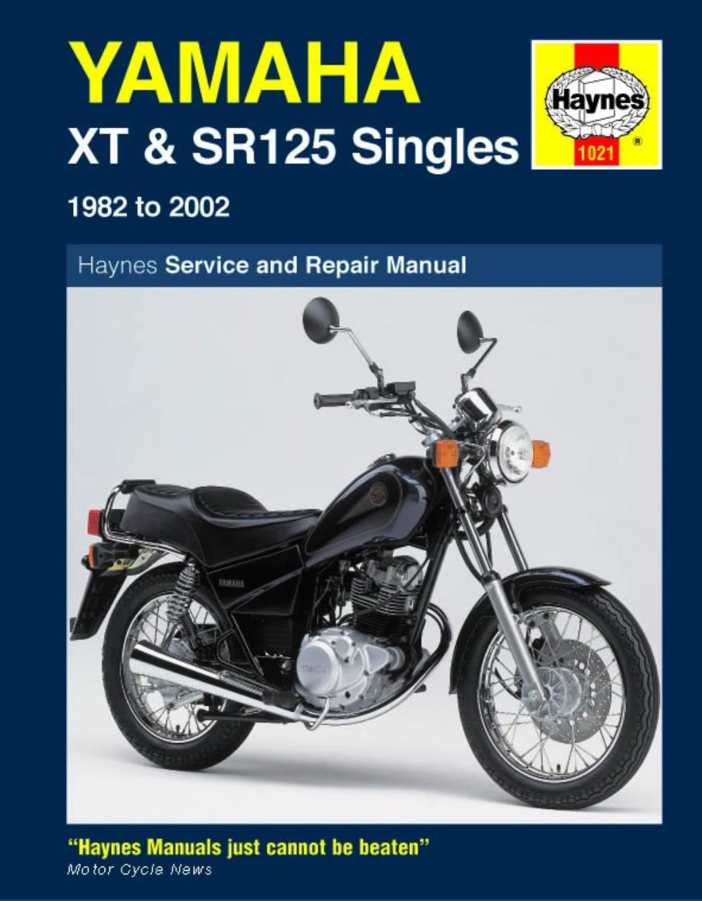 medium resolution of image is loading manual haynes for 1982 yamaha xt 125 j