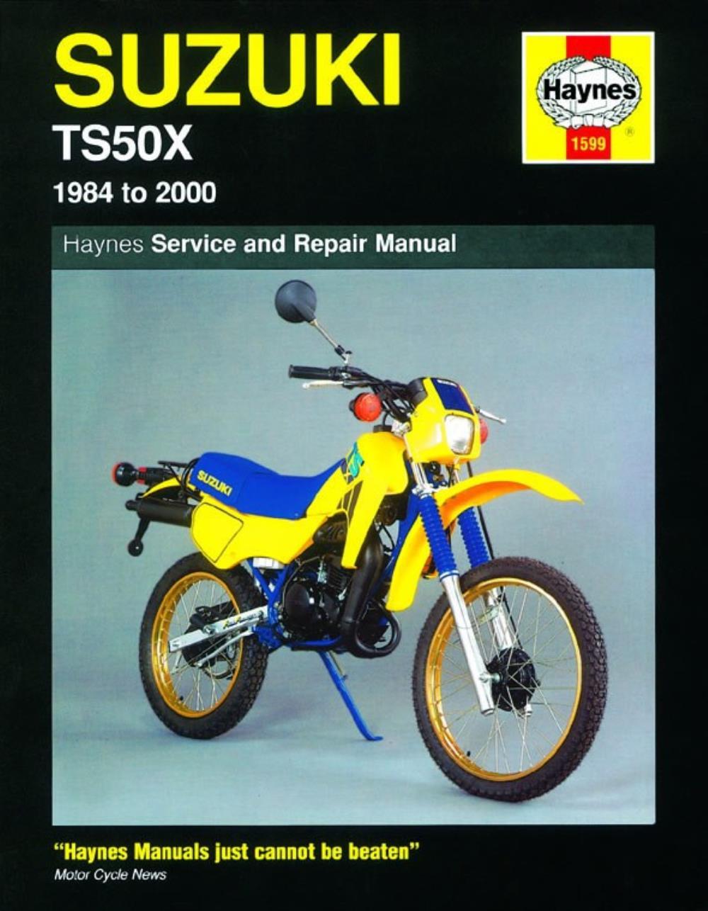 medium resolution of haynes manual 1599 for suzuki ts50x 1984 to 2000 for sale online ebay suzuki ts50x wiring diagram free