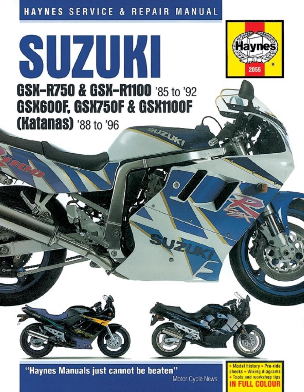 medium resolution of manual haynes for 1991 suzuki gsx r 1100 m sacs slingshot gu73a 91 suzuki gsxr 1100 wiring diagram