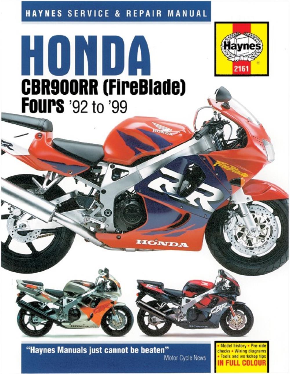 medium resolution of image is loading manual haynes for 1996 honda cbr 900 rrt